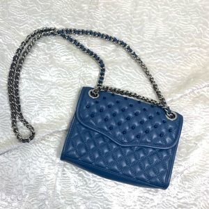 Rebecca Minkoff quilted/ studded leather crossbody